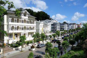 Blick auf die Wilhelmstraße vom Balkon 1 der Wohnung 6