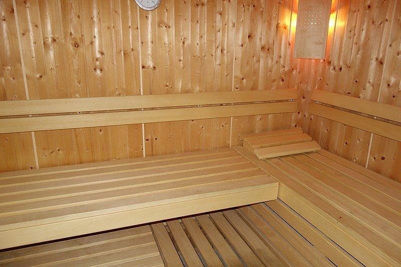 Sauna in der Villa Celia – für alle Gäste nutzbar