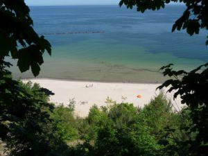 Selliner Strand vom Hochufer gesehen