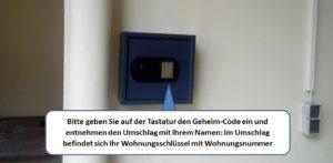 Villa Celia - Tastatur Schlüssel-Safe