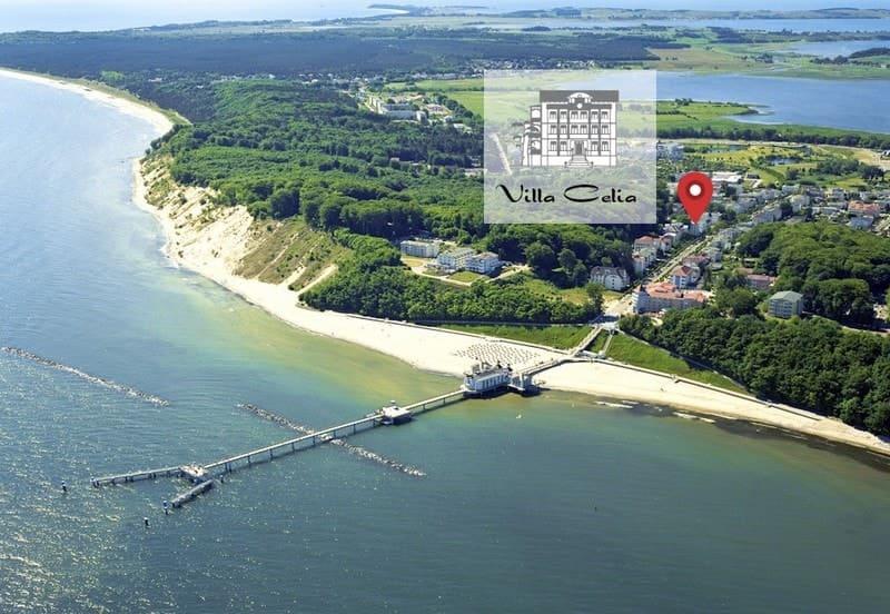 Strandnahe Lage der Ferienwohnungen Villa Celia © Gemeinde Sellin