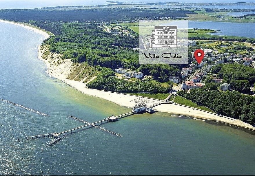 Strandnahe Lage der Villa Celia © Gemeinde Sellin