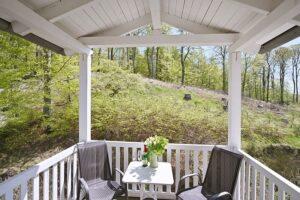 Blick in den Granitzwald von einem hinteren Balkon