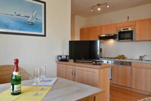 Essbereich und Küche Wohnung 12